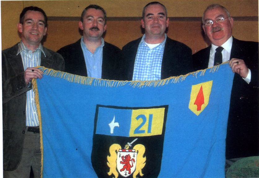 The Campbells, a family affair. (l-r) Ptes Rory (1986-90), & Stephen (1980-87), Cpl Peter(1978-86) and BQMS Peter Campbell (1957-99)
